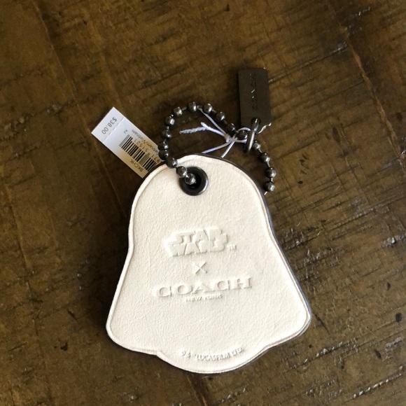"Silver /""Diva/"" keyring bag tag charm"